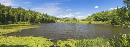 View of Long Pond in the summer, Acadia National Park, Maine  Stock Photo