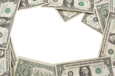 jack pot: Frontera hecha de billetes de un d�lar Foto de archivo