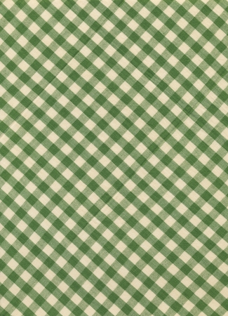 Green and white gingham textile fabric  photo