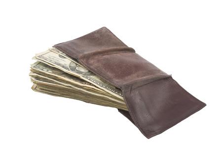 Wallet full of American money.