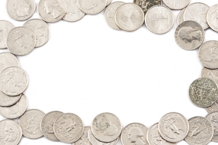 bordering: Quarters Bordering white background,