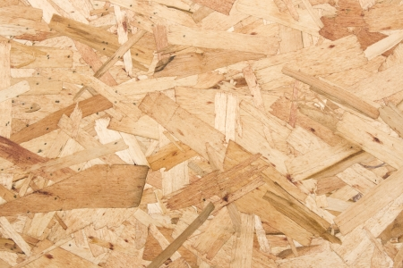 Close-up of Oriented strand board, waferboard.