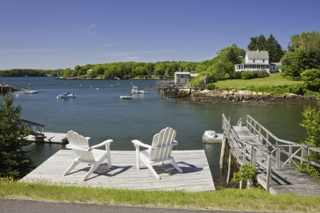 liesure: South Bristol on the coast of Maine  Stock Photo