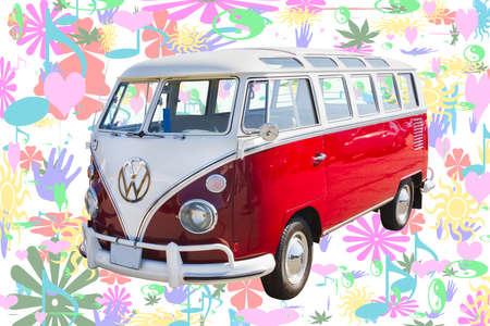 old bus: Classic VW 21 Window Mini Bus image  Editorial