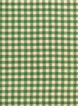gingham: Green and white checkered tablecloth textile fabric background