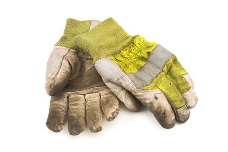 Work gloves isolated on white bhackground  Stock Photo