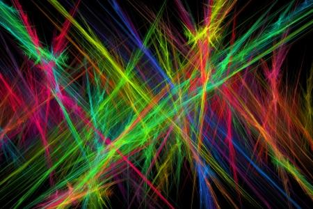 fractal flame: L�neas en ordenador llama fractal fondo negro
