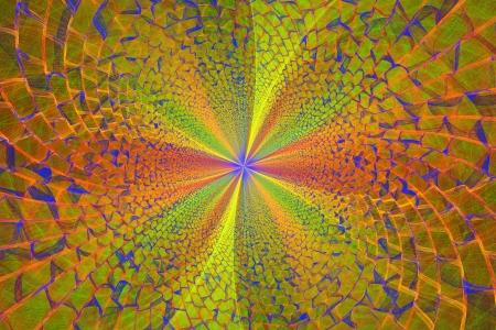 fractal flame: Generado por ordenador v�rtice amarillo llama fractal