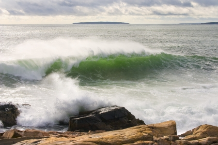 Heavy surf near Western Point, Acadia National Park, Maine  photo