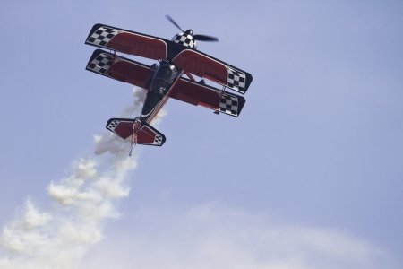 airborne vehicle: Airplane performing stunts