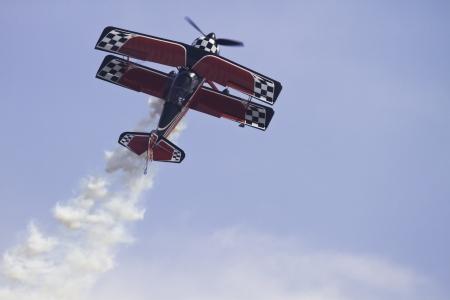Airplane performing stunts