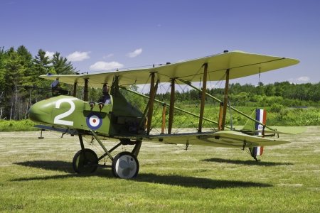 1916 Royal Aircraft F E 8 world war one era antique airplane