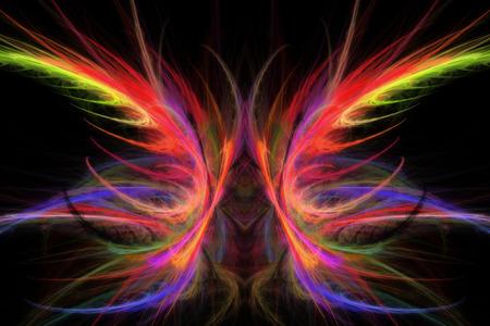 fractal flame: Generado por ordenador abstracto de la mariposa de la llama fractal