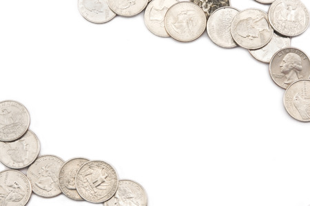 bordering: American Quarters Bordering white background