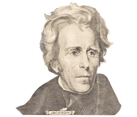 andrew: Portrait of Andrew Jackson on white background