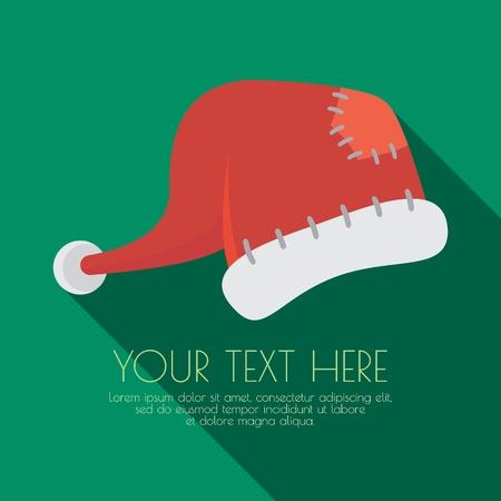 hat santa: Santa Claus Hats. Vector Illustration. Concepts Web Banner and Printed Materials. Greeting Cards. Trendy and Beautiful.
