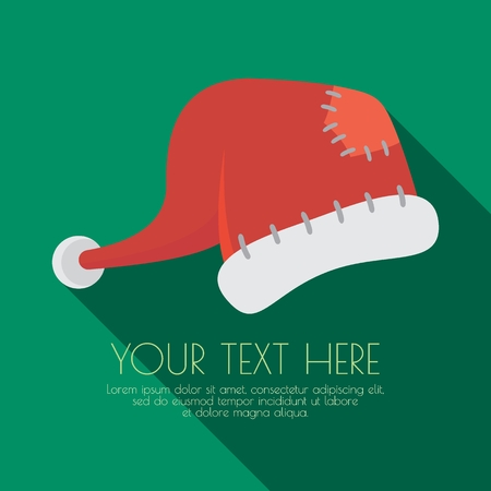 Santa Claus Hats. Vector Illustration. Concepts Web Banner and Printed Materials. Greeting Cards. Trendy and Beautiful.