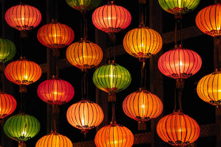 colorful lantern: Group of Chinese Lantern  Stock Photo