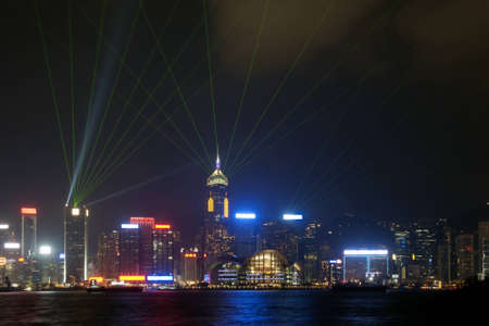 Hong Kong Harbor Night View Stock Photo - 15557110