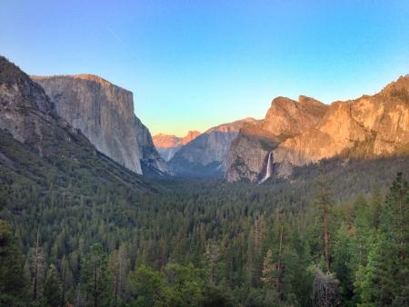 Yosemite Valley at sunset Zdjęcie Seryjne