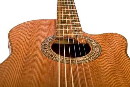 Close up of Acoustic Guitar with Nylon Strings