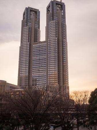 Tokyo Metropolitan Government Building at Sunset