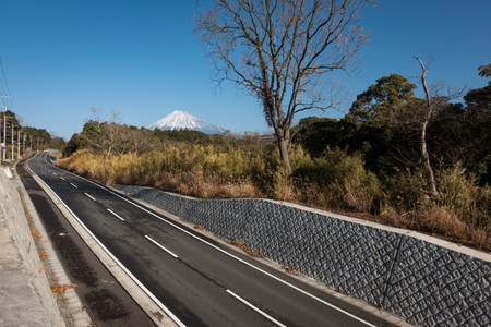 Mt. Fuji over a Country Road