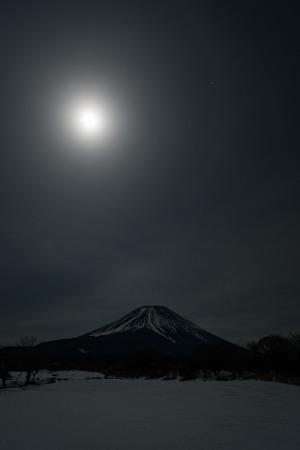 Mt. Fuji and the Super Moon