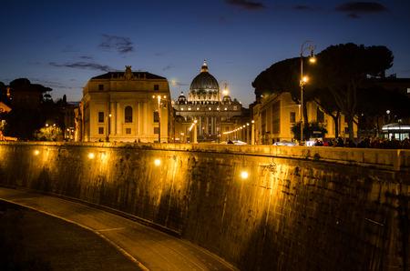 St. Peter's Basilica at Dusk