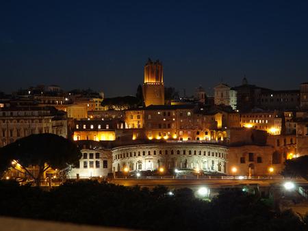 Forum of Augustus at Night Stock fotó