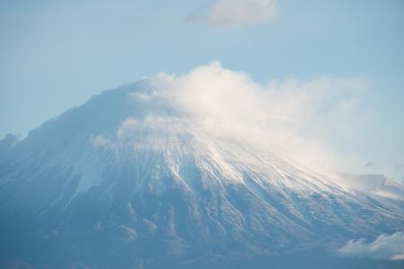 Close-up Shot of Mt. Fuji from Shizuoka