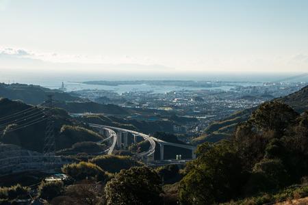 Port Shimizu over the Shimizu Ihara Junction