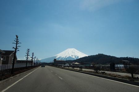 Driving Towards Mt. Fuji