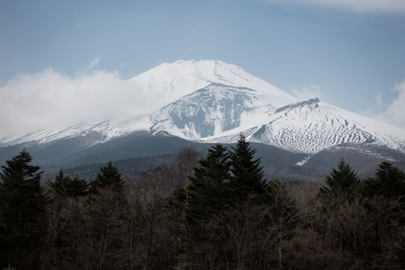 The Hoei Crater of Mt. Fuji