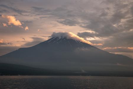 Mt. Fuji over Lake Yamanaka at Sunset