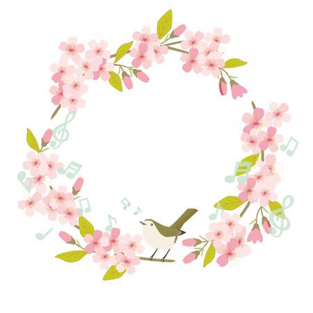 Cherry Blossom bird frame
