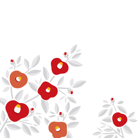 Camellia background illustration