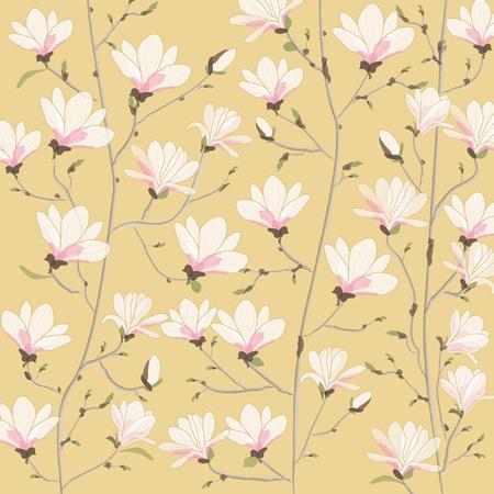 magnolia: Vector background illustration of Magnolia