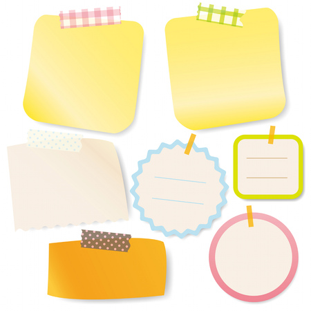 memo pad: Colorful Sticky notes