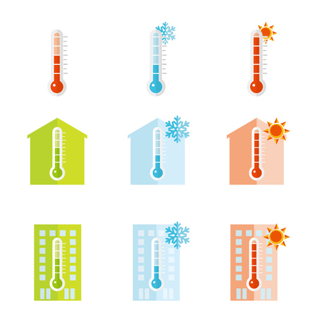 Thermometer icon set, Vector illustration 向量圖像