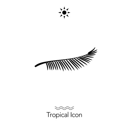 Tropical icon silhouette