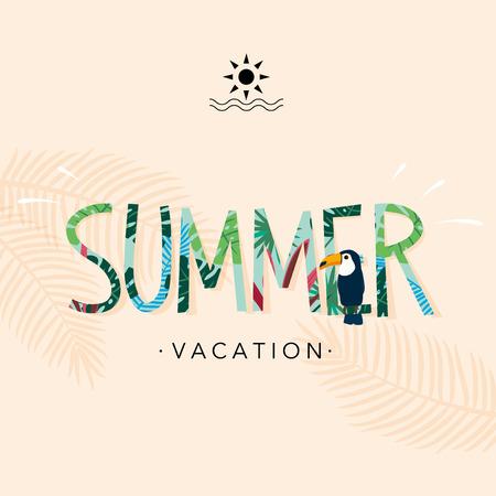 Met de hand geschreven logo zomer Stock Illustratie
