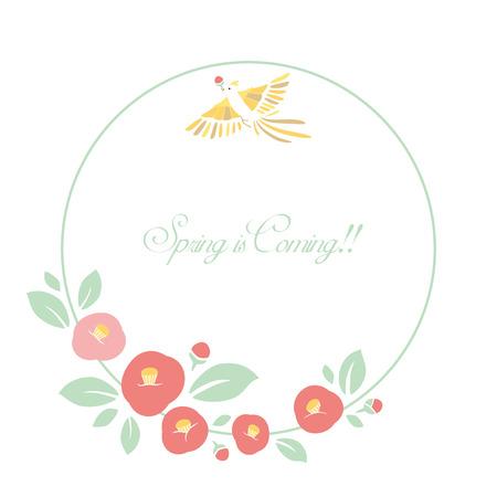 Camellia flower background illustration