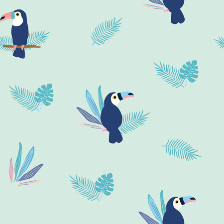Seamless pattern of toucan Stock Illustratie