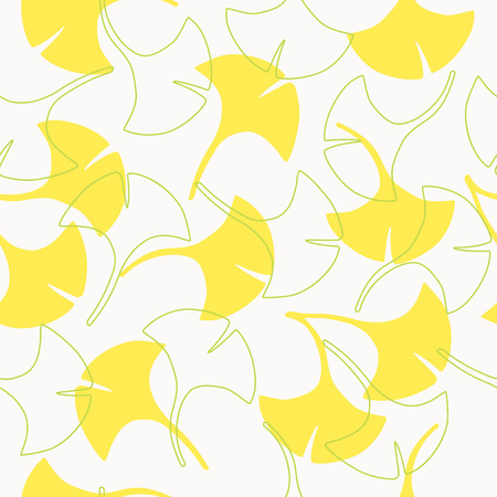 Seamless pattern of ginkgo leaves 向量圖像
