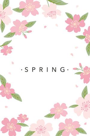Cherry blossoms background illustration Ilustracje wektorowe