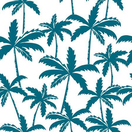 Seamless pattern of palm tree on white background  イラスト・ベクター素材
