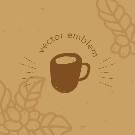Vector hand drawn coffee cup icon for cafe menu