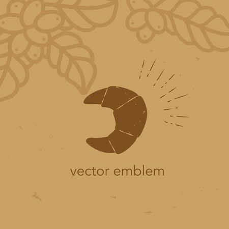 Vector hand drawn croissant icon for cafe menu