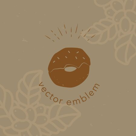 Vector hand drawn donut icon for cafe menu